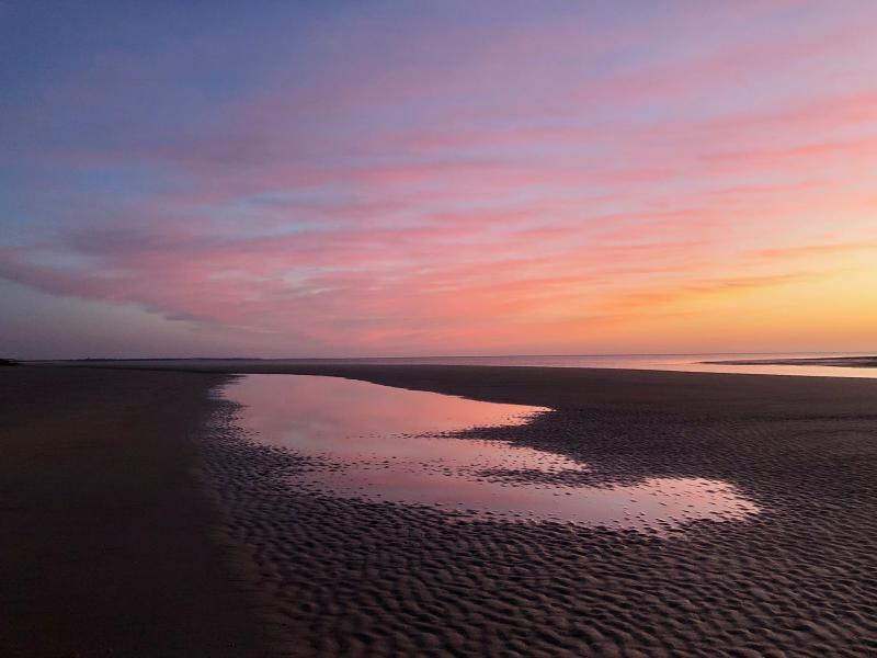 Sunrise on the coast in Camden County