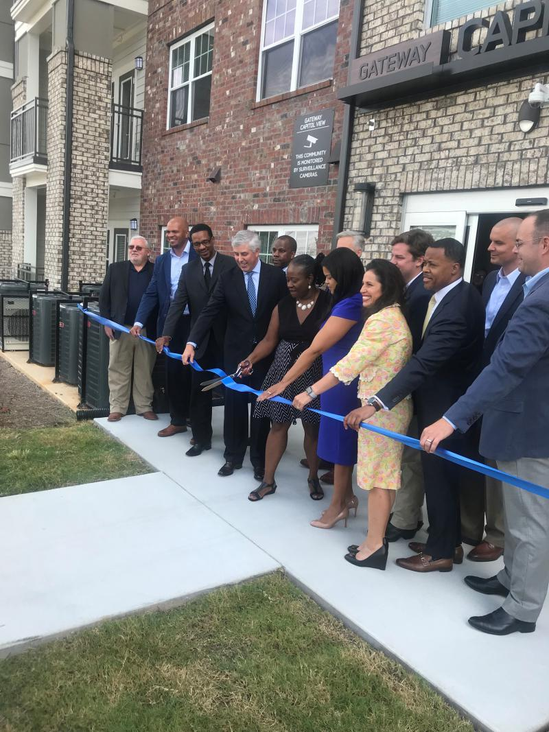 Atlanta city officials cut the ribbon on the city's newest, affordable, senior-living complex.