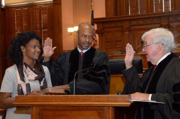 Harold Melton is sworn in as Georgia's new Chief Justice.