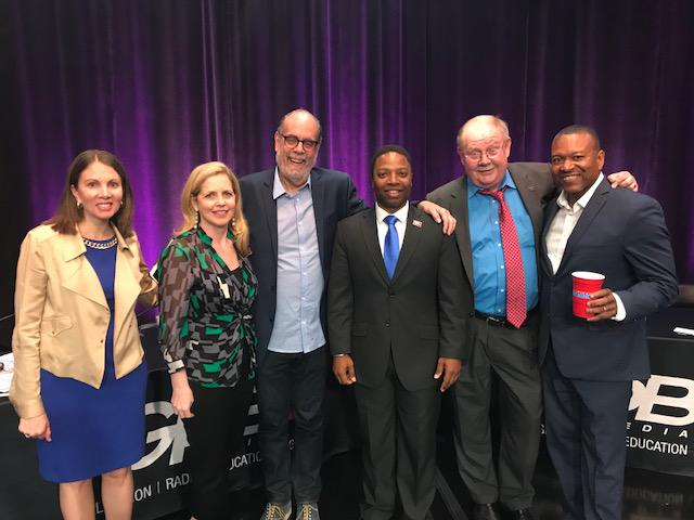 Stacey Evans, Loretta Lepore, Bill Nigut, Michael Owens, Jim Galloway and Leo Smith at the Political Rewind Town Hall in Atlanta, GA.