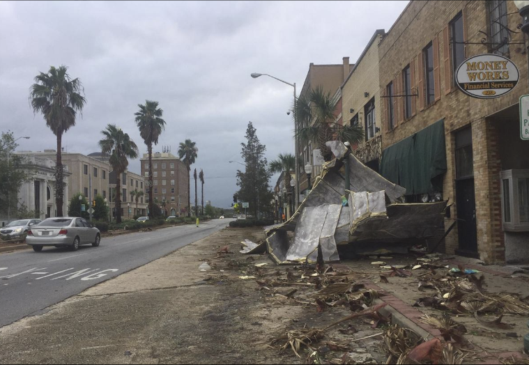 Downtown Albany after Hurricane Michael