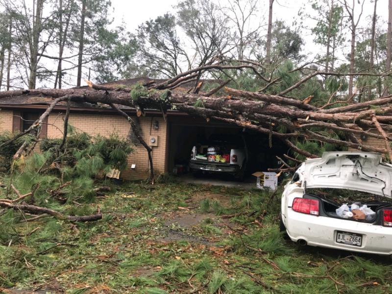 Severe damage in Bainbridge