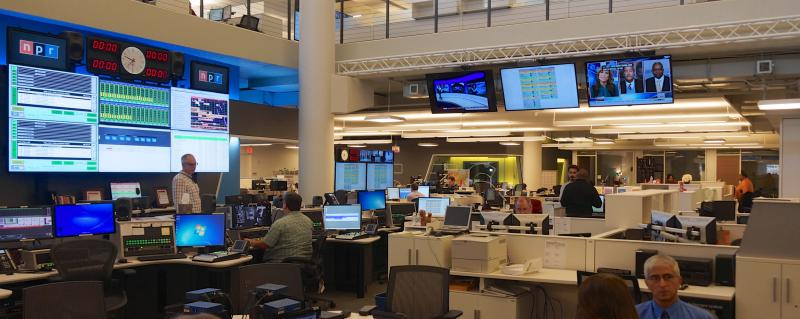 News organizations around the country, like NPR (pictured), have reevaluated their relationships with politicians and the White House in the past few years.