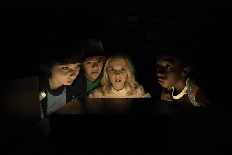 """The young actors on Netflix's """"Stranger Things."""""""