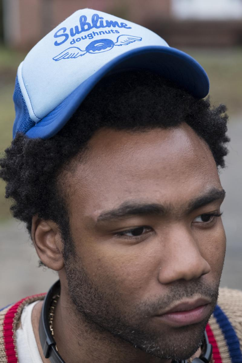 """Actor Donald Glover on the set of FX's """"Atlanta."""""""