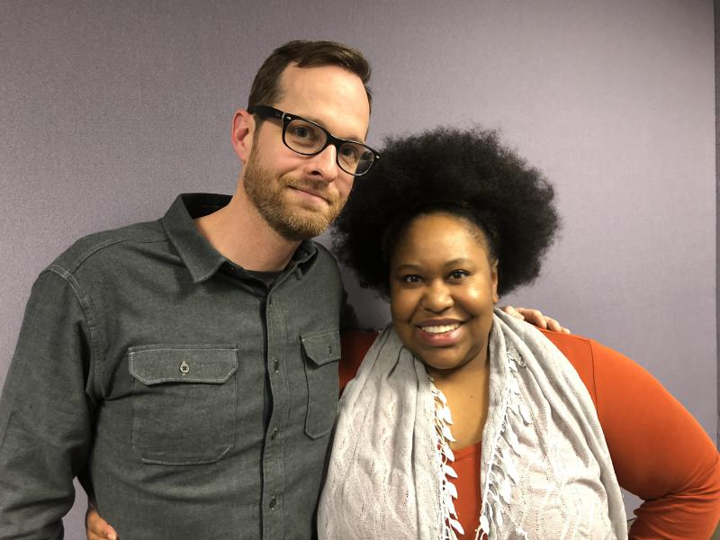 Stills photographer Curtis Bonds Baker with host Kalena Boller.