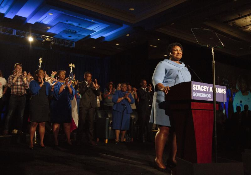 Stacey Abrams spoke to supporters a little before 2 am once it became clear she was headed to a runoff with Republican opponent Brian Kemp to be Georgia's next governor. Her message? If you didn't vote for me the first time, you'll get another chance.