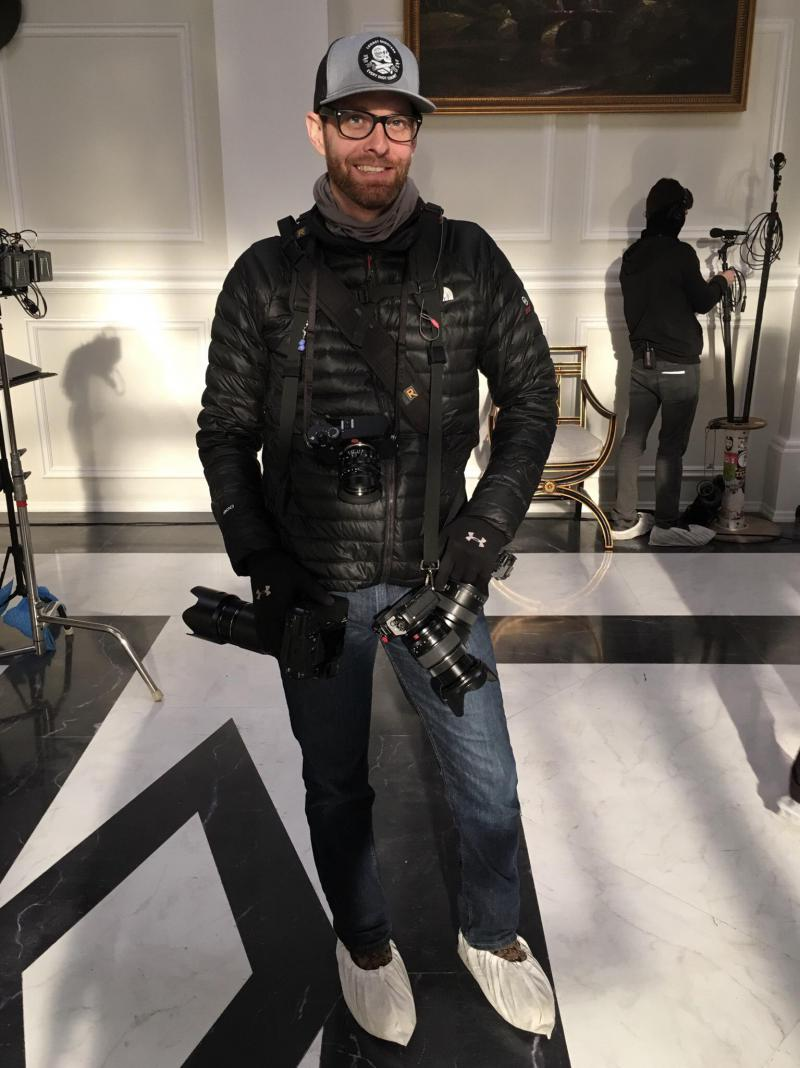 Curtis Bonds Baker, pictured on a set, is a photographer for feature films and TV shows in Georgia.