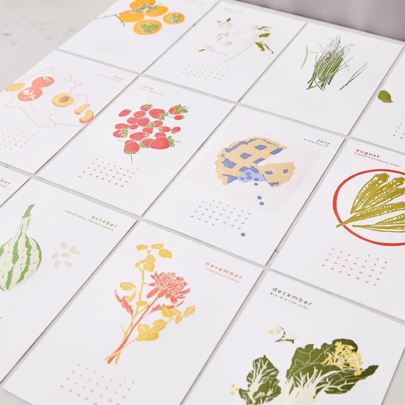 Megan Fowler's Sunny Side 2019 calendar was highlighted by Garden and Gun magazine as one of the best crafts in the South.