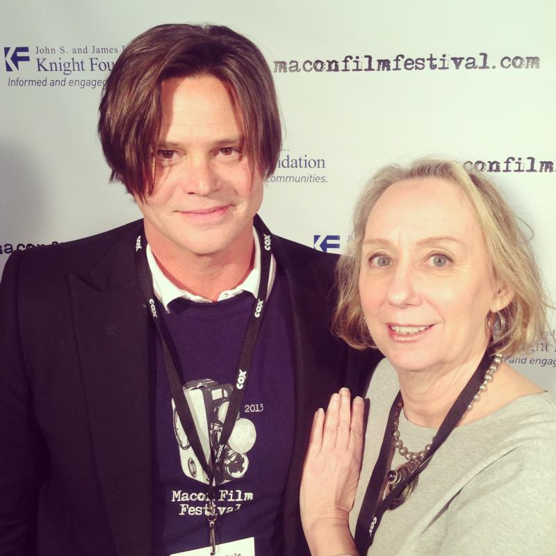Terrell Sandefur with actress Mink Stole, who was a special guest at the Macon Film Festival in 2013.