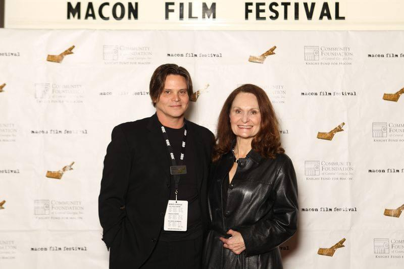 Terrell Sandefur with actress Beth Grant, who was a special guest at the 2012 Macon Film Festival.