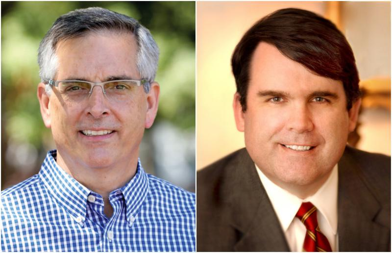 Left Republican Brad Raffensperger won the runoff race for Secretary of State. Right Republican Incumbent Chuck Eaton retained his seaton on the Public Service Commission.