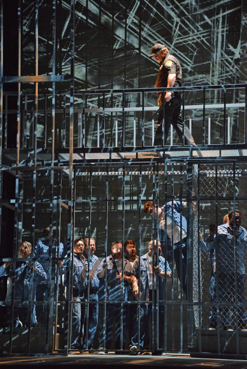 "Actor Michael Mayes plays Joseph De Rocher in the Atlanta Opera's production of ""Dead Man Walking."""