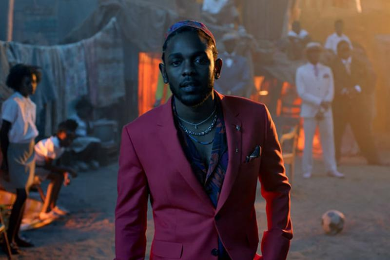 """Kendrick Lamar in the music video for """"All The Stars,"""" one of the """"Black Panther"""" songs nominated for multiple Grammys."""