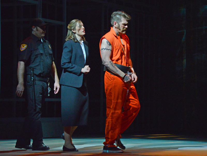 """Joseph De Rocher, the death row inmate, is played by Michael Mayes in the Atlanta production of """"Dead Man Walking."""""""