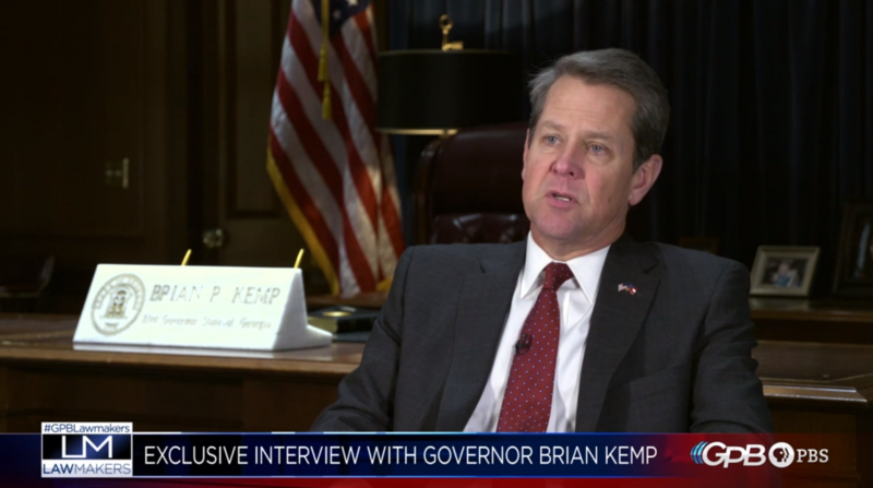 Gov. Brian Kemp speaks to Scott Slade on GPB's Lawmakers, Tuesday January 29, 2019.