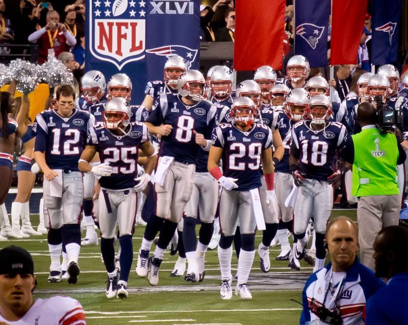 The New England Patriots enter Super Bowl 48 at Lucas Oil Stadium.