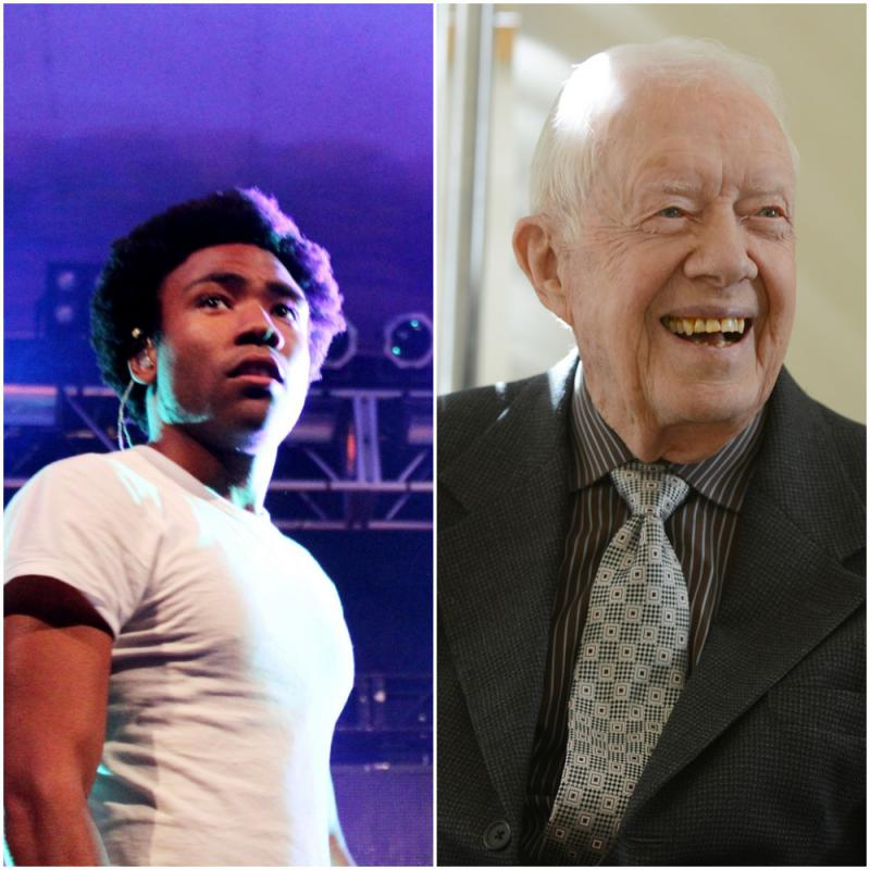 Georgia natives (left) Childish Gambino and (right) Jimmy Carter each brought home Grammy awards on Sunday.
