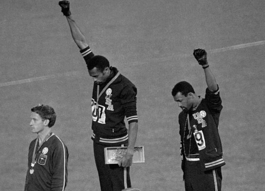 Olympics black fist protest