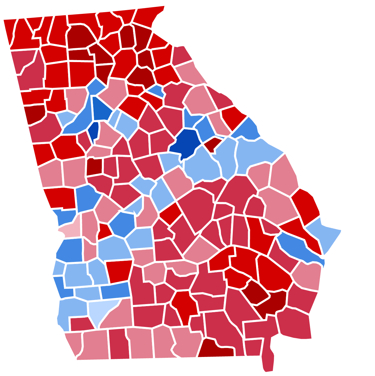 Results of the United States presidential election in Georgia, 2012.