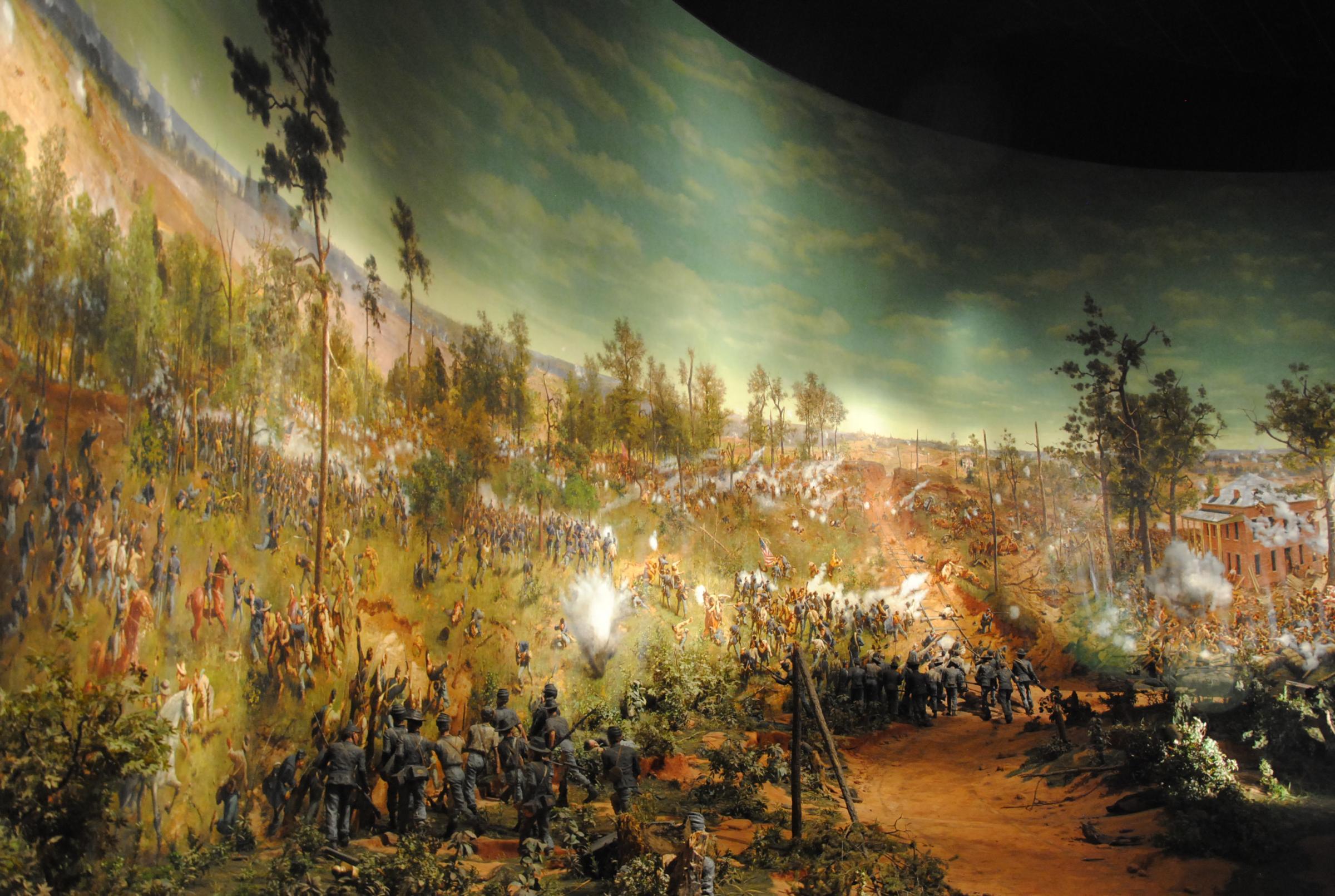 Motion picture moving atlanta 39 s massive civil war for Atlanta mural artist