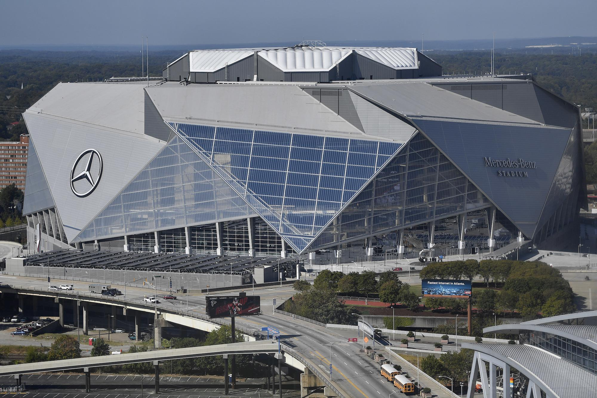 new 1 6b mercedes benz stadium rises georgia dome to be