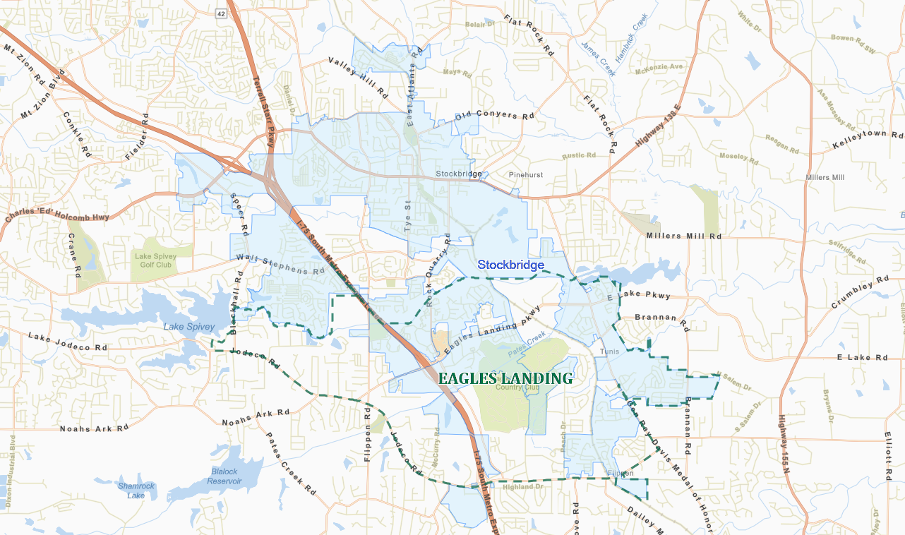 Map Of 75 South In Georgia.Eagles Landing And Stockbridge A Tale Of One Community Two