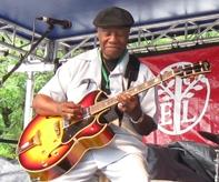 Photo of blues guitarist Johnnie Bassett