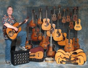 Stan Werbin with guitars