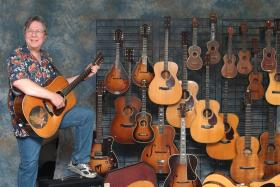 Stan Werbin with various stringed instruments