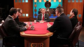 Egan, Livengood, Melinn, Pluta, appearing on Off the Record with Tim Skubick.