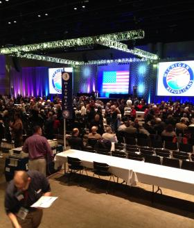 At their annual convention, held in Lansing this year, Michigan Republicans reelected Bobby Schostak as their leader.