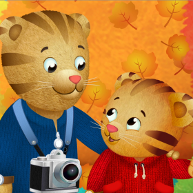 Daniel Tiger and his Mom