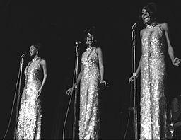 "Motown's premiere ""girl group,"" The Supremes, performed at the Frontier Hotel in Las Vegas in 1969."
