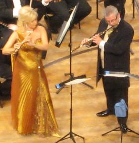 James Galway will be joined by his wife, flutist Lady Jeanne Galway.