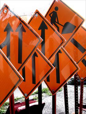 Construction along Michigan and Grand River Avenues is expected to congest traffic until October.