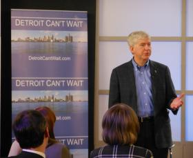 Governor Rick Snyder says he agrees with a financial review team's finding that Detroit faces a financial emergency.
