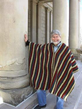 Arnold Hennig is the lead organizer of Cristo Rey Catholic Church's 34th annual Stations of the Cross reenactment. He is pictured on the steps of the State Capital, where the performance begins.