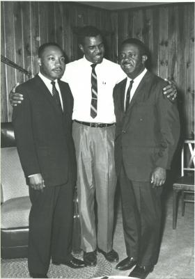 Dr. Martin Luther King,  Dr. William G. Anderson and Dr. Ralph David Abernathy. Anderson met King through his brother-in-law who was a high school friend of King's.