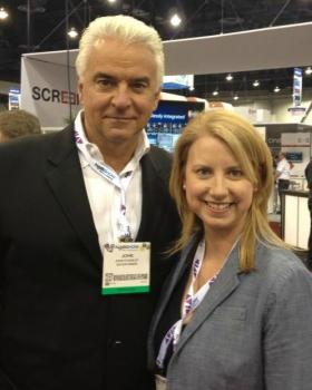 With John O'Hurley at the NAB