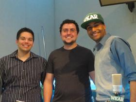 Current Sports intern Mike Koury, producer and engineer Aaron Young and host and producer Al Martin