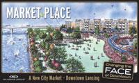 The proposed Market Place project will sit at the corner of Cedar and Shiawassee Streets