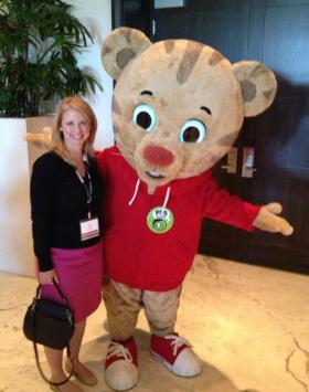 Having fun with Daniel Tiger at the PBS Meeting!