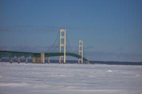 The Mackinac Bridge.