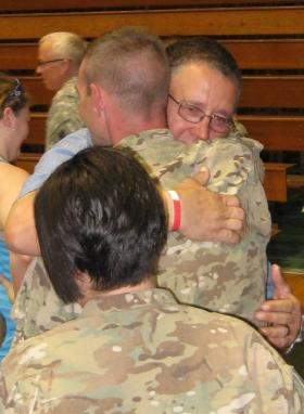 About 130 members of the 1461st Transportation Company of the Michigan Army National Guard returned home Thursday after a nine-month tour of duty in Afghanistan.
