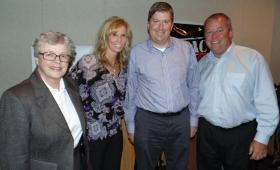 Lou Anna K. Simon, Suzy Merchant, Joe Rexrode, Mark Hollis