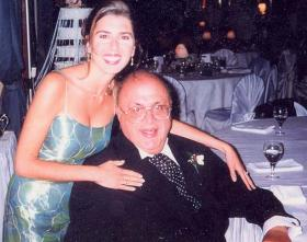 Maureen Abood with her father, Camille, who passed away on June 27, 2000.