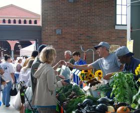 Detroiters can find fresh produce and meats at the Eastern Market.