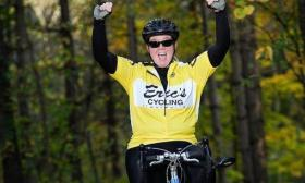Janna Rowan hopes her cycling journey will help people learn about the challenges facing the deaf and blind among us.