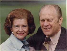 Pictured here with his wife Betty, President Gerald Ford was the longest living president in U.S. history, passing away at the age of 93.